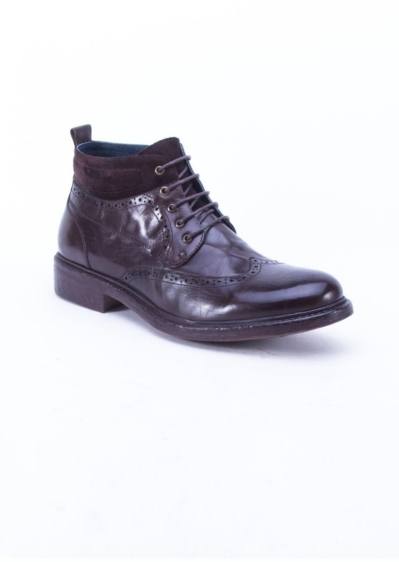 English Laundry Men's Leather Casual Lace Up Boot Men's Shoes