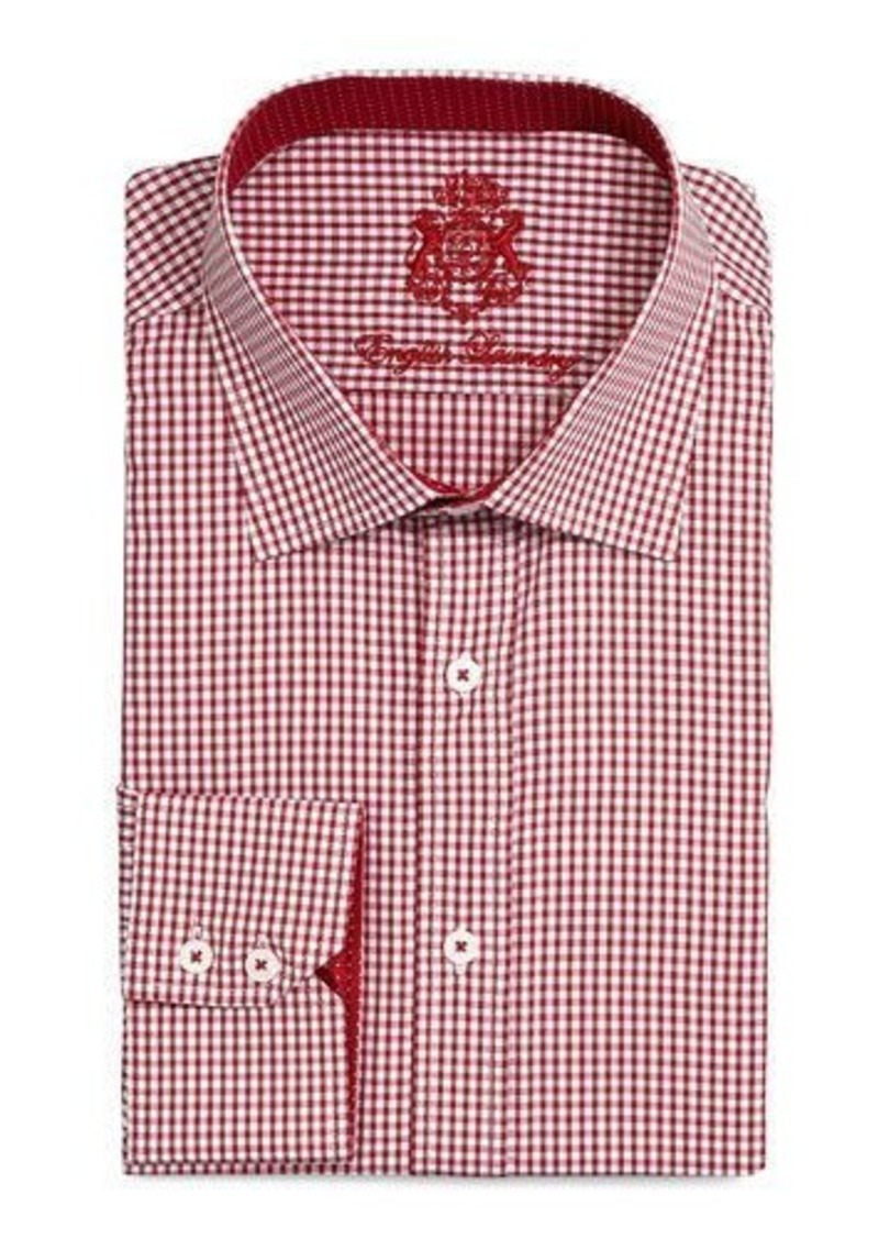 English Laundry Mini-Check Dress Shirt