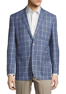 English Laundry Modern Fit Wool Windowpane Sportcoat