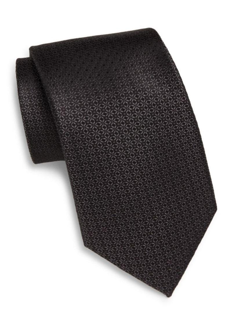 English Laundry Neat Textured Silk Tie