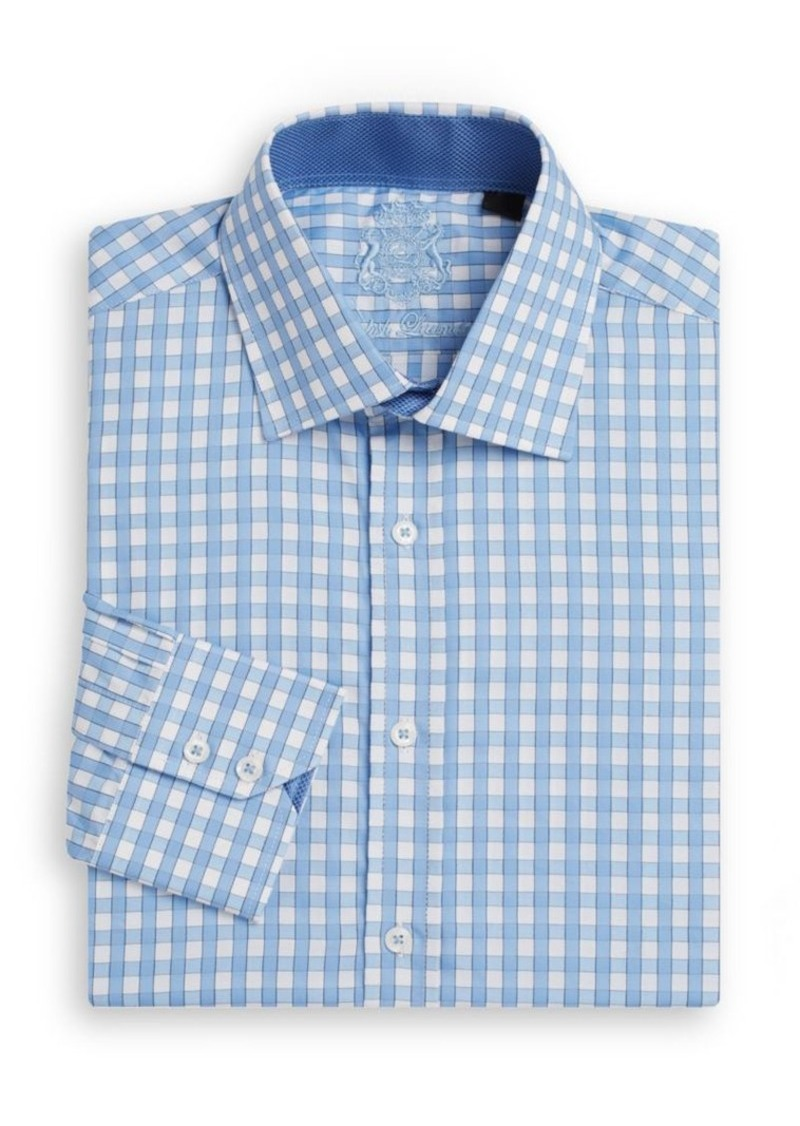 English Laundry Regular-Fit Check Cotton Dress Shirt