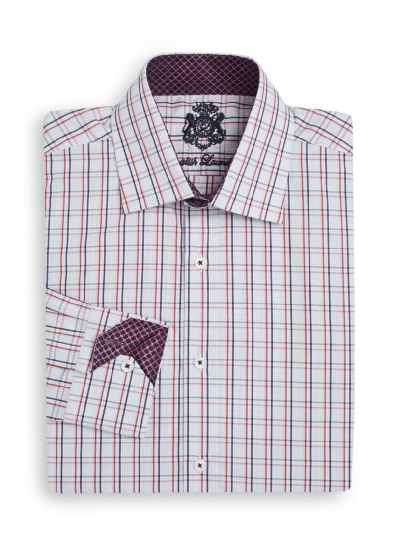 English laundry english laundry regular fit checked cotton for Regular fit dress shirt