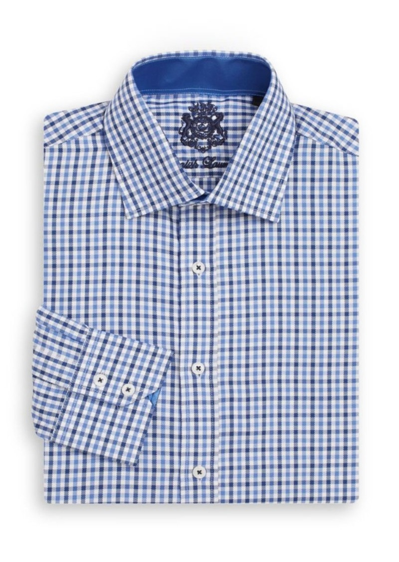 English Laundry Regular-Fit Gingham Cotton Dress Shirt