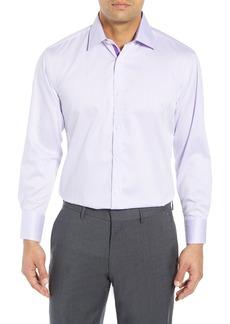 English Laundry Trim Fit Herringbone Dress Shirt