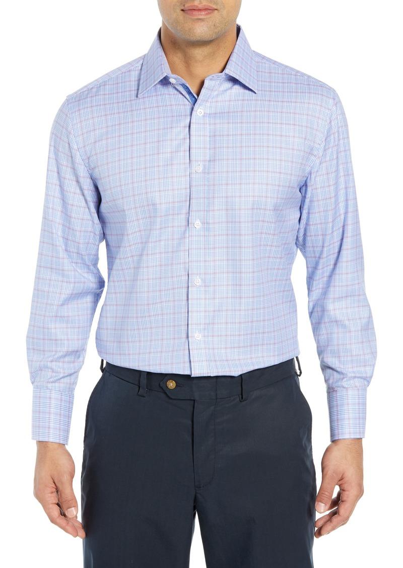 English Laundry Regular Fit Plaid Dress Shirt