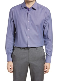 English Laundry Trim Fit Houndstooth Dress Shirt