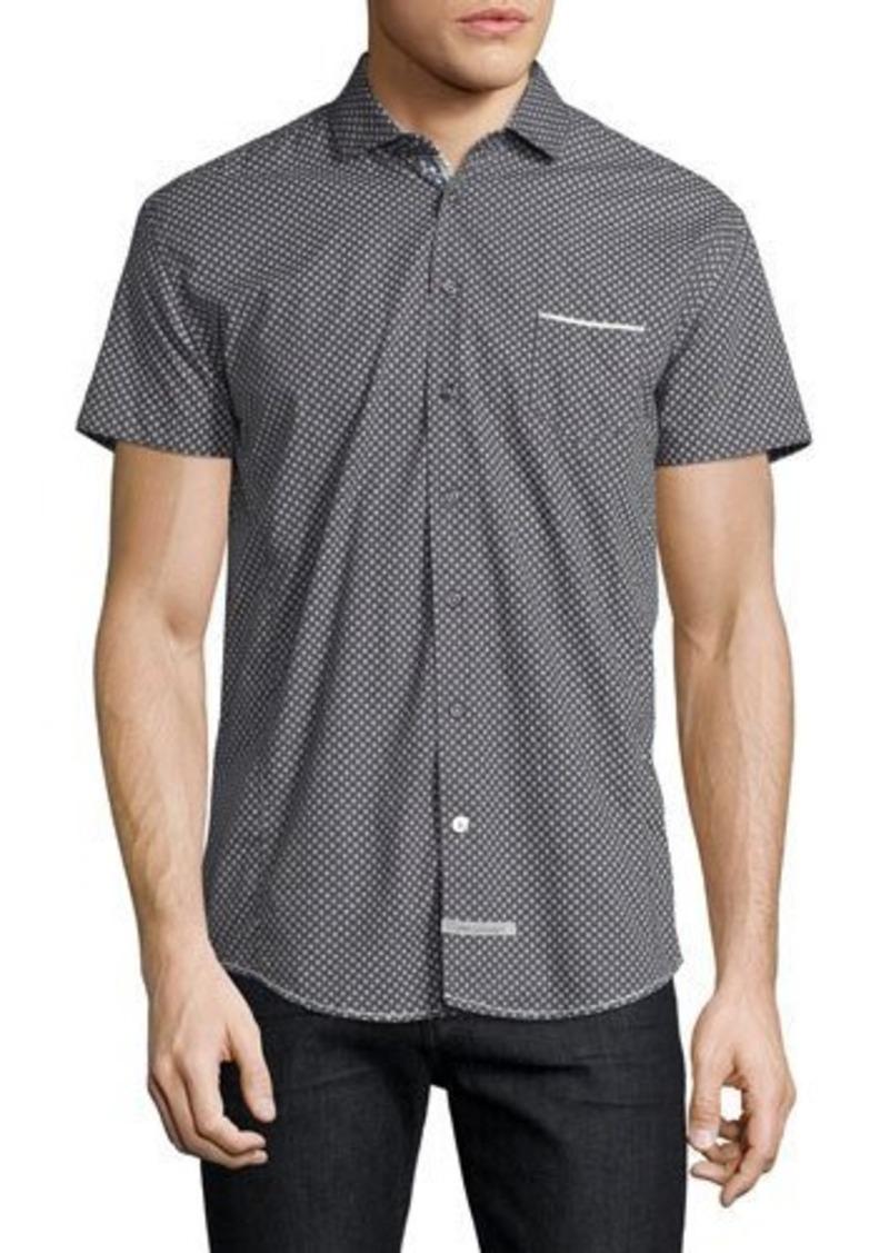 English Laundry Square-Print Short-Sleeve Sport Shirt