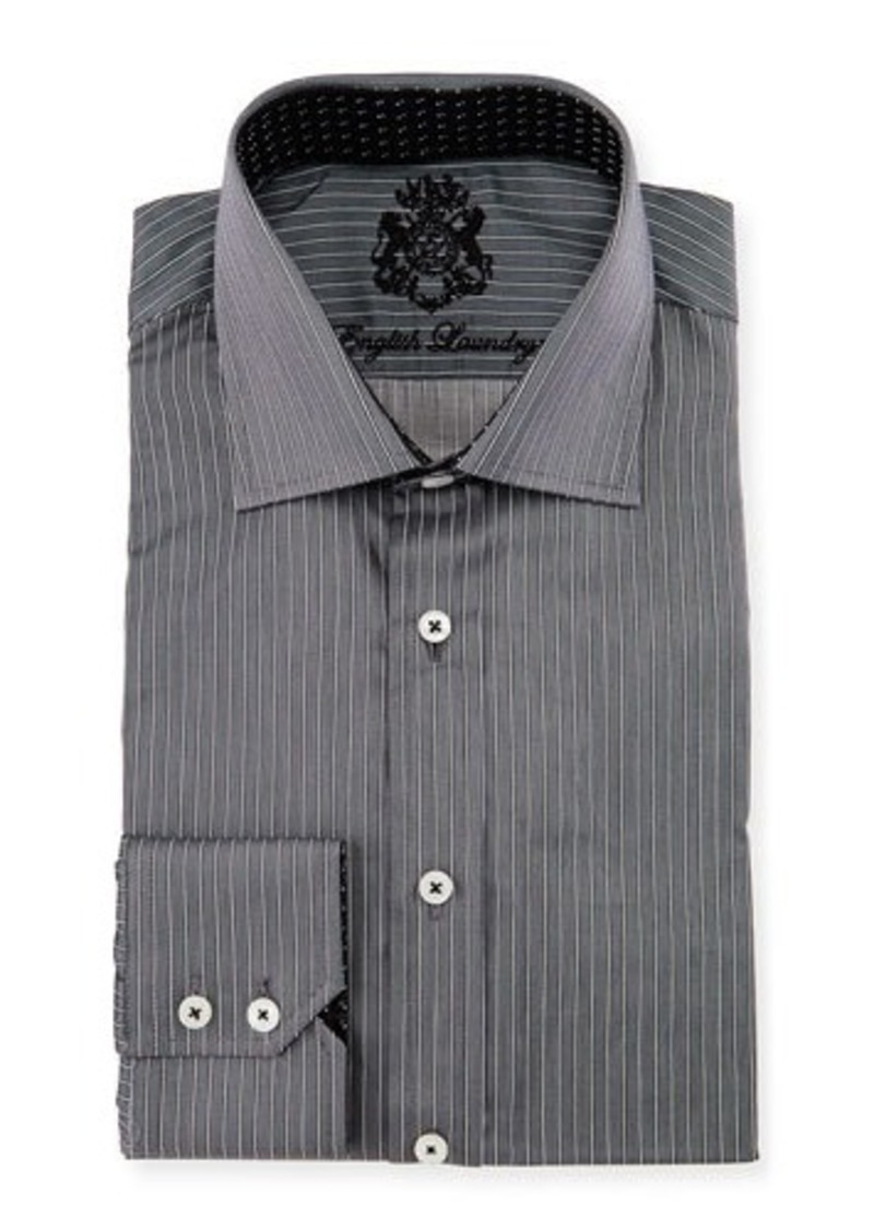 English Laundry Striped Woven Dress Shirt