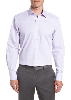 English Laundry Trim Fit Stretch Check Dress Shirt