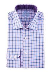 English Laundry Windowpane-Check Long-Sleeve Dress Shirt