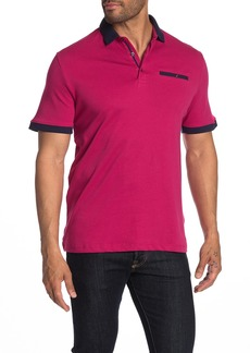 English Laundry Interlock Jacquard Collar Polo Shirt