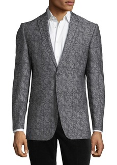 English Laundry Men's Embroidered Two-Button Sport Coat