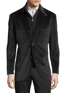 English Laundry Men's Henry Blazer w/ Zip-Out Bib