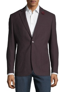 English Laundry Men's Melange Comfort Stretch Sport Coat