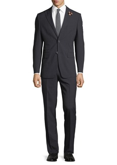 English Laundry Men's Pinstriped Two-Piece Suit