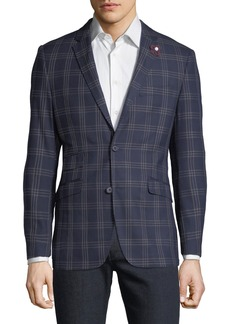 English Laundry Men's Plaid Comfort Stretch Sport Coat