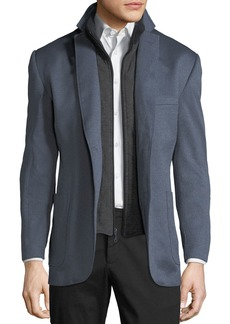 English Laundry Men's Richard Blazer with Zip Bib