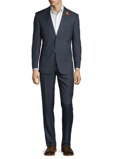 English Laundry Men's Striped Two-Piece Suit