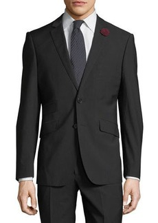 English Laundry Men's Two-Piece Suit w/ Rose Lapel