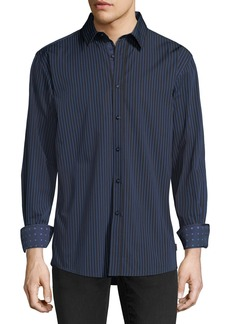 English Laundry Pinstriped Sport Shirt