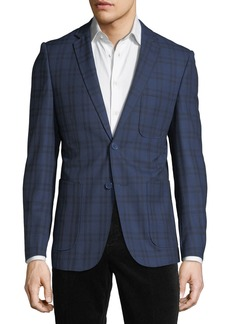 English Laundry Plaid Comfort Stretch Sport Coat