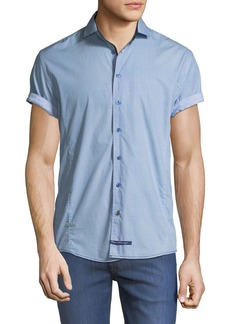 English Laundry Solid Short-Sleeve Sport Shirt