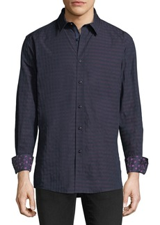 English Laundry Tonal Gingham Sport Shirt