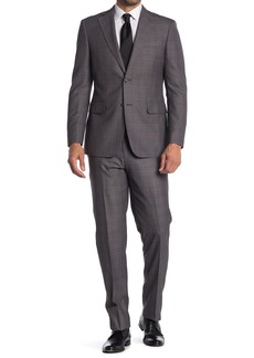 English Laundry Windowpane Two Button Notch Collar Suit