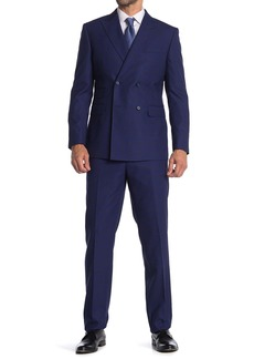 English Laundry Wool Double Breasted Peak Collar Suit