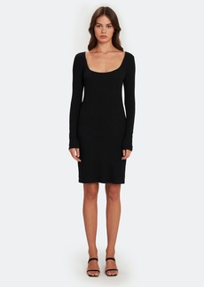 Enza Costa Brushed Rib Square Neck Mini Dress - S - Also in: XS