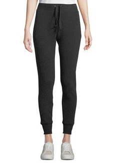 Enza Costa Cashmere Thermal Drawstring Jogger Pants