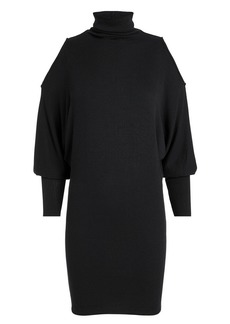 Enza Costa Cold Shoulder Dolman Sleeve Mini Dress