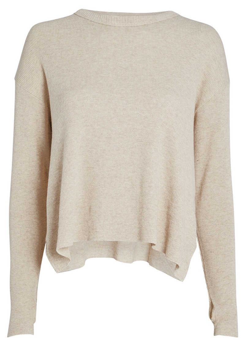 Enza Costa Cotton-Cashmere Thermal Top
