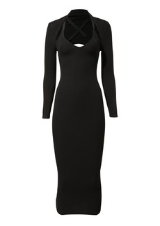 Enza Costa Shrug Midi Dress