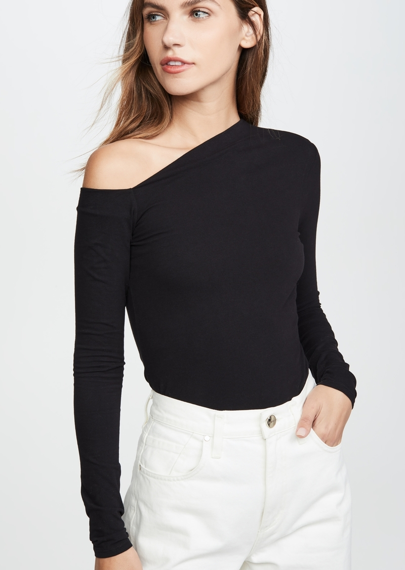 Enza Costa Angled Exposed Shoulder Top