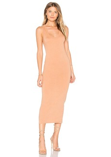 Enza Costa Bold Racer Midi Dress in Brown. - size 0 / XS (also in 1 / S)