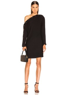 Enza Costa Brushed French Terry Snap Mini Dress