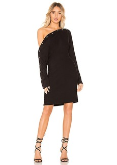 Enza Costa Brushed Terry Snap Mini Dress