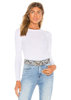 Enza Costa Cashmere Blend Long Sleeve Crew Top