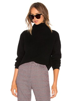 Enza Costa Cashmere Cropped Turtleneck Sweater