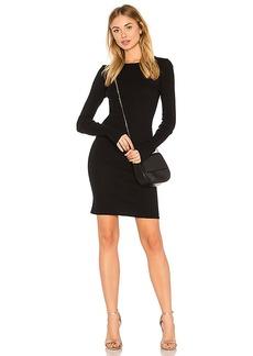 Enza Costa Cashmere Cuffed Mini Dress in Black. - size L (also in M,S,XS)