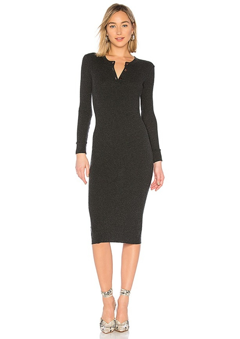 658bc68ef1a36 Enza Costa Enza Costa Cashmere Henley Midi Dress Now  143.00