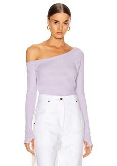 Enza Costa Cashmere Off Shoulder Long Sleeve