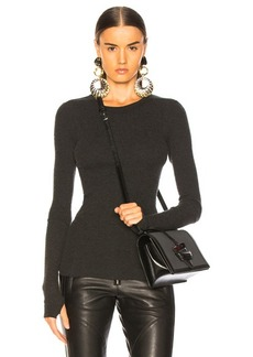 Enza Costa Cashmere Thermal Cuffed Long Sleeve Crew