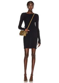 Enza Costa Cashmere Thermal Cuffed Mini Dress