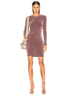 Enza Costa Chenille Sweatshirt Mini Dress