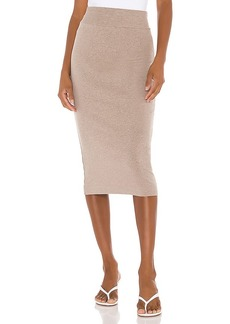 Enza Costa Cotton Rib Pencil Skirt