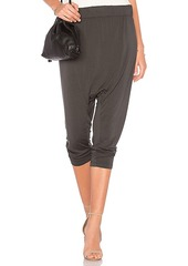 Enza Costa Drop Rise Jogger in Gray. - size 0 / XS (also in 1 / S,2 / M,3 / L)