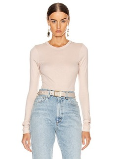 Enza Costa Fitted Long Sleeve Top
