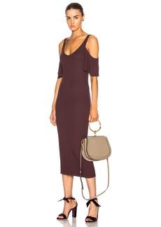 Enza Costa for FWRD Rib Flutter Sleeve Dress